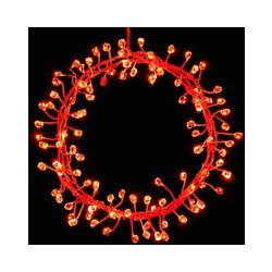 John Lewis 240 LED Firecracker Lights, Red, Silver Wire, 10.7m
