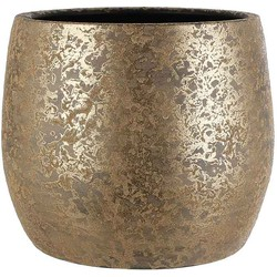 Mica Decorations clemente pot rond goud maat in cm: 31 x 38 opening 30cm