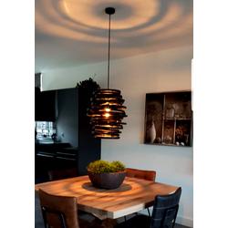 Exclusieve rotan Koboo hanglamp (kleur:ZWART)
