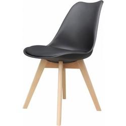 Set van 4 stoelen - Alba stoelen - zwart - lagom