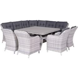 Garden Impressions Nova lounge dining set 8-delige grijs
