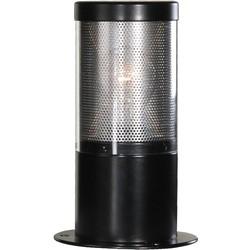 Lumare sokkel buitenlamp 25cm opaal/helder - zwart