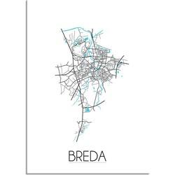 Breda Plattegrond poster - A4 poster zonder fotolijst