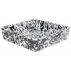 Crow Canyon Emaille Brownie Retro Dinerbord Ovenschaal Black Marble