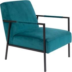 Wants&Needs fauteuil Wasakan teal 76 x 60,5 x 76