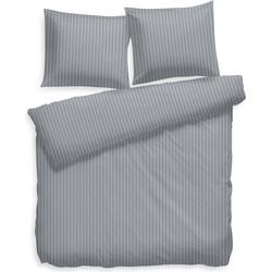 Dekbedovertrek Uni Stripe steel blue - 100% Katoen-satijn