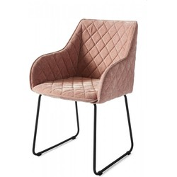 Rivièra Maison Frisco Drive Dining Armchair, Velvet, Pink