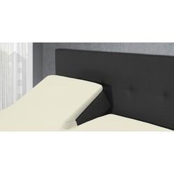 The Luxury Home Collection Split Topper Hoeslaken - Crème Maat: Lits-jumeaux (160x200/210 cm)
