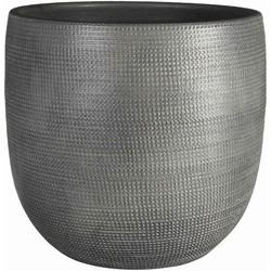 Mica Decorations pot rond daimon maat in cm: 22.5 x 24 grijs
