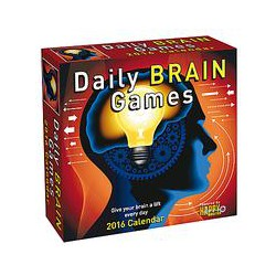 Andrews Mcmeel Daily Brain Game Boxed 2016 Calendar