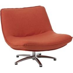 J-Line Fauteuil Draai Velvet Oranje 68 x 85 x 94