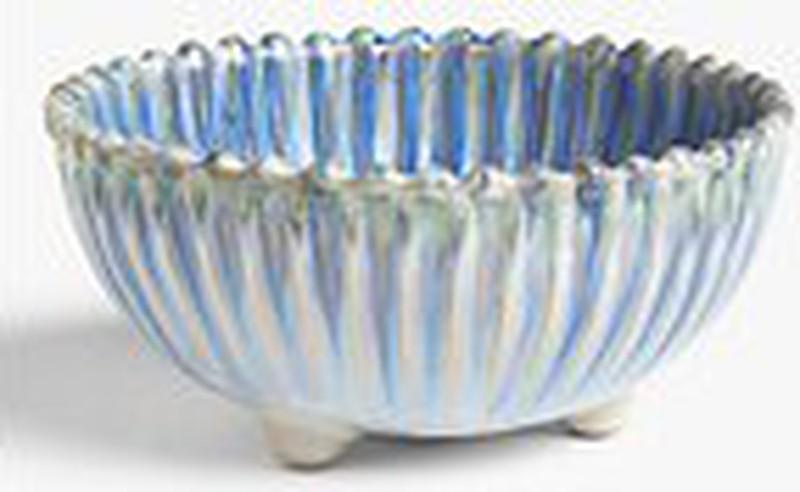 John Lewis & Partners Shore Bowl, 15.4cm, Blue/White -