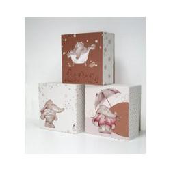 Graham & Brown Graham & Brown Eleflump Canvas Blocks, Brown