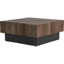 Light&Living Salontafel op wielen MACUMA hout 30 x 70 x 70