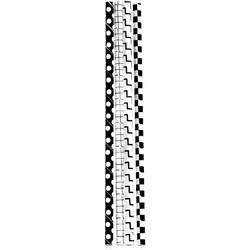 Kikkerland Papieren rietjes zwart/wit grid