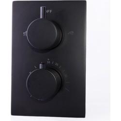 Saniclear BLACK inbouw thermostaatkraan geheel compleet zwart