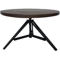 MD Interior salontafel 3-poot donker mangohout Ø70cm