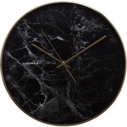Cloudnola Structure Black Marble - wandklok
