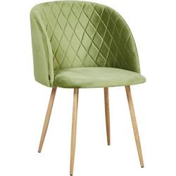 Marko stoel - Appel groen velours - set van 2