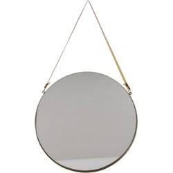 Spiegel rond goud