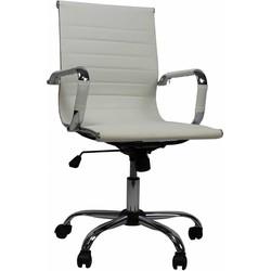 Design bureaustoel Mile lage rug wit