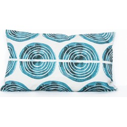 Cushion - funky music colonial blue