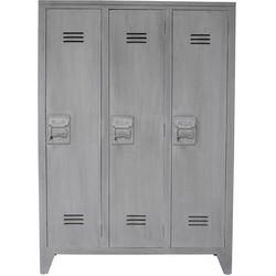 HK-living locker kast hout, grijs