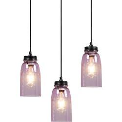 Set of 3 Pendant Lamp Masons Pastel Pink