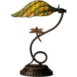 Clayre & Eef Tiffany bureaulamp met libelle