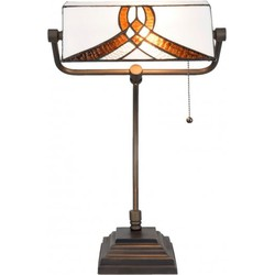 Clayre & Eef Bureaulamp Tiffany 31x30x52 cm / E27 / Max. 1x60 Watt