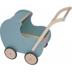 Van Dijk Toys houten poppenwagen Vintage Noest Groen