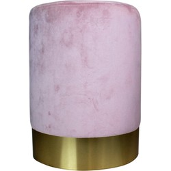 Poef Housevitamin velvet roze