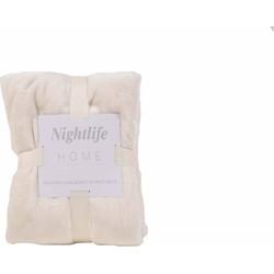 Nightlife - Plaid - Fleece - Lycra / elastaan - Crème