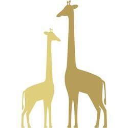 ESTAhome fotobehang giraffen okergeel