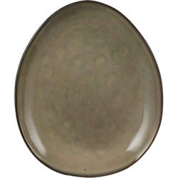 Mica Decorations tabo bord ovaal creme maat in cm: 22 x 18
