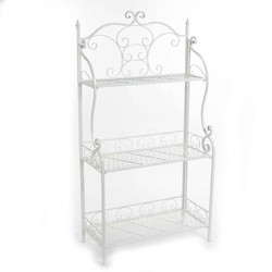 Mica Outdoor plant etagere sissy maat in cm: 63.5 x 29.5 x h117.5 wit