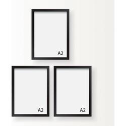 A2 Frame - Wissellijst - Fotolijst - Zwart of Wit