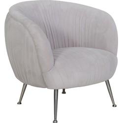Light&Living fauteuil Tilton velvet grijs 75 x 75 x 79