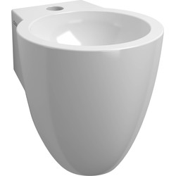 Clou Flush 6 Fontein met kraangat 27x31,5 cm Wit