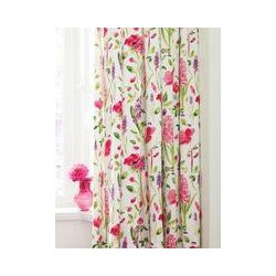 Sanderson Spring flowers lined curtains 66x72 multi