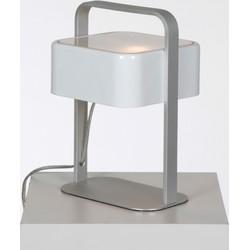 Linea Verdace Tafellamp Quadro - H24 Cm - Wit/Aluminium
