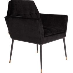Dutchbone eetkamerstoel KATE BLACK 86 x 71,5 x 63,5