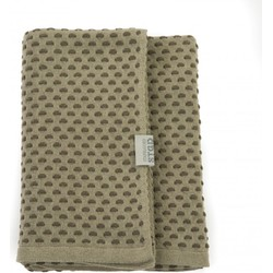 Stapelgoed Plaids Dots - Army Maat: 150x200cm