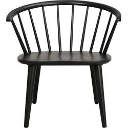 Carmen houten loungestoel - Spijlenstoel - Zwart