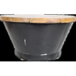 Salontafel Emmer - black resin - teak/ijzer