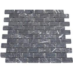 Toros Black Tumbled  2,3 x 4,8 x 1 cm