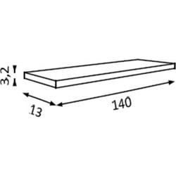 Rialto planchet 131-150x3,2x13cm Silver Pine 1704H1
