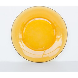 Plate glass vintage - Yolk yellow