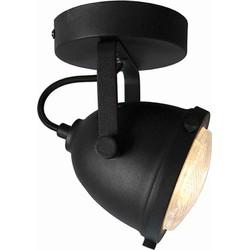 LABEL51 - LED Spot Moto 1-Lichts 12x12x16 cm - Industrieel - Zwart