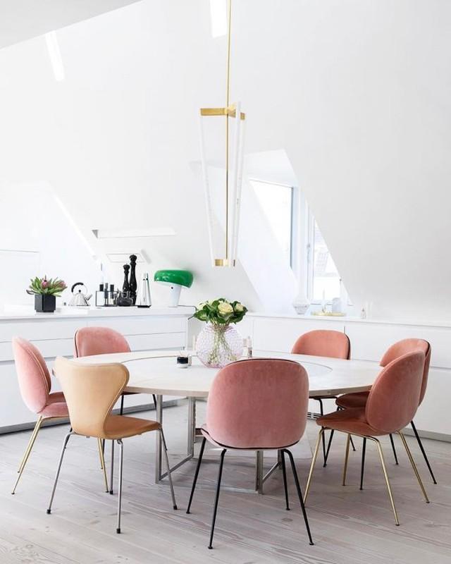 Favoriete Trend: Roze eetkamerstoelen en fauteuils - Alles om van je huis je @TU94